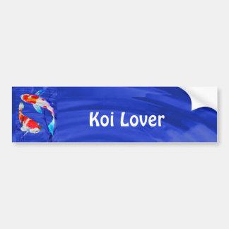 Dúo de Kohaku en la charca azul profunda Pegatina De Parachoque