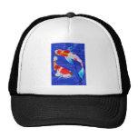 Dúo de Kohaku en la charca azul profunda Gorros Bordados