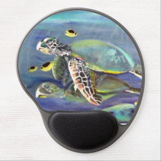 Dúo de la tortuga alfombrillas de raton con gel