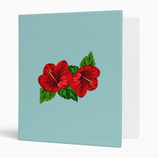 Dúo de los flores rojos del hibisco