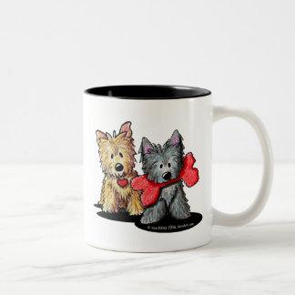 Dúo de Terrier de mojón Tazas De Café