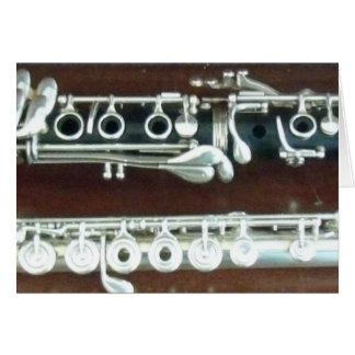 Dúo del Clarinet y de la flauta Tarjeta De Felicitación