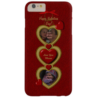 Duo Hearts Frame, Red-Gold-iPhone 6 Plus Case