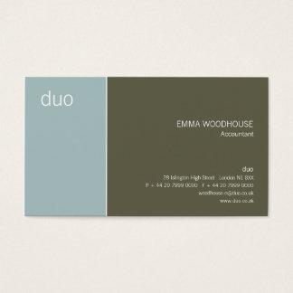 Duo Light Blue & Dark Olive Business Card