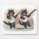 Dúo Mousepad del gato Alfombrilla De Ratones
