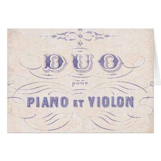Duo Pour Piano et Violin Musical Card