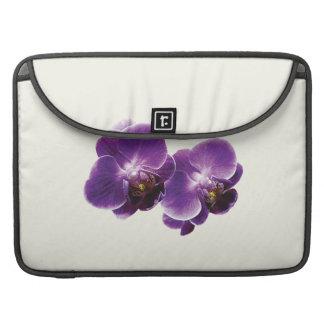 Dúo púrpura de la orquídea funda macbook pro