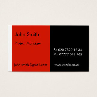 """Duo - Red & Black (2"""" x 3.5"""") Business Card"""