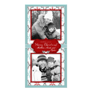 Dúo retro de la tarjeta de la foto de los copos de tarjetas fotograficas personalizadas