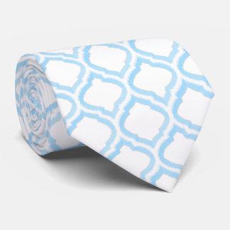 Duo-tone Moroccan Trellis (Blue) Tie
