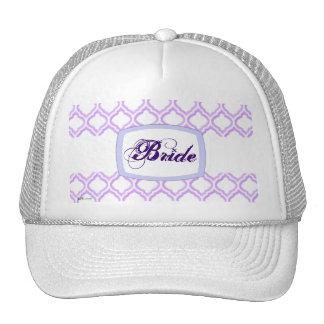 Duo-tone Moroccan Trellis (Lilac) (Monogram) Trucker Hat