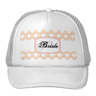 Duo-tone Moroccan Trellis (Orange) (Monogram) Trucker Hat