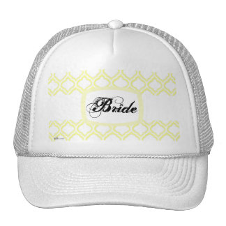 Duo-tone Moroccan Trellis (Yellow) (Monogram) Trucker Hat