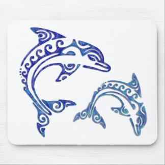 Dúo tribal de la masopa del tatuaje tapete de ratón