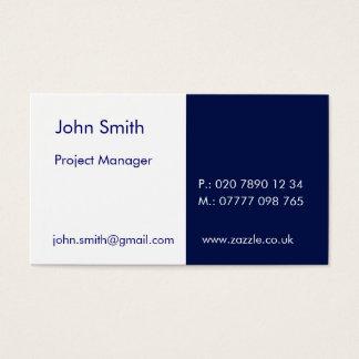 """Duo - White & Marino (2"""" x 3.5"""") Business Card"""