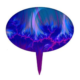 duocolor del fractal azul palillos de tarta
