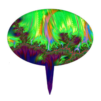 duocolor del fractal púrpura figuras para tartas