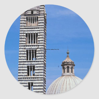Duomo and cupola from rooftop, Siena, Italy Classic Round Sticker
