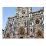 Duomo de Firenze - fascade de la catedral Tarjeta Postal