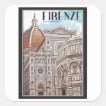 Duomo de Firenze Pegatina Cuadrada