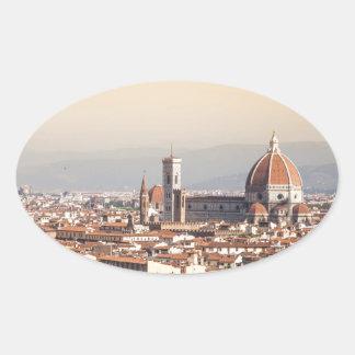 Duomo de Florencia Pegatina De Óval Personalizadas