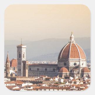 Duomo de Florencia Calcomanías Cuadradases