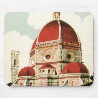Duomo de la iglesia de Florencia Firenze Italia Alfombrillas De Raton