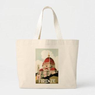 Duomo de la iglesia de Florencia Firenze Italia Bolsa Tela Grande