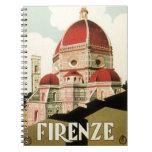 Duomo de la iglesia de Florencia Firenze Italia Libro De Apuntes
