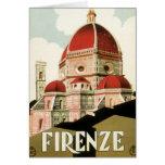 Duomo de la iglesia de Florencia Firenze Italia de Tarjeta