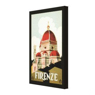 Duomo de la iglesia de Florencia Firenze Italia Lienzo Envuelto Para Galerias