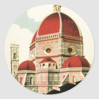 Duomo de la iglesia de Florencia Firenze Italia Pegatinas Redondas