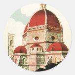 Duomo de la iglesia de Florencia Firenze Italia Pegatina Redonda