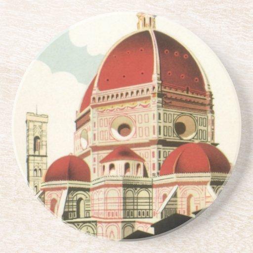 Duomo de la iglesia de Florencia Firenze Italia Posavasos Para Bebidas