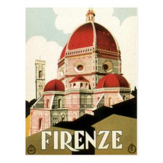 Duomo de la iglesia de Florencia Firenze Italia Postal