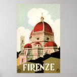 Duomo de la iglesia de Florencia Firenze Italia Póster