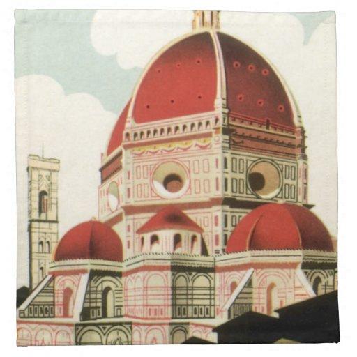 Duomo de la iglesia de Florencia Firenze Italia Servilletas Imprimidas