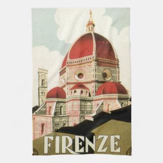 Duomo de la iglesia de Florencia Firenze Italia Toallas De Mano