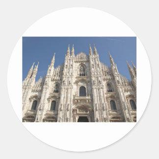 Duomo di Milano gothic cathedral church, Milan Classic Round Sticker
