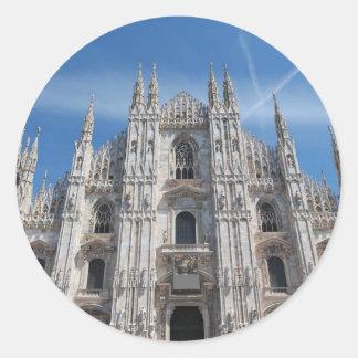 Duomo di Milano gothic cathedral church, Milan, It Classic Round Sticker