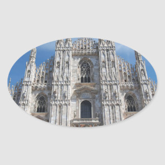 Duomo di Milano Milan Cathedral Italy Oval Sticker