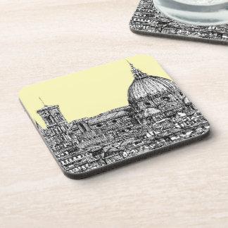 Duomo Firenze cream ivory Drink Coaster