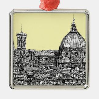 Duomo Firenze cream ivory Metal Ornament