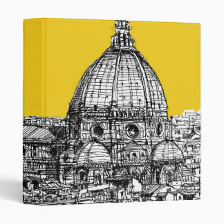 Duomo Florence in orange 3 Ring Binder