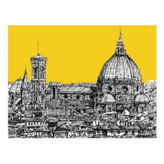 Duomo Florence in orange Postcard