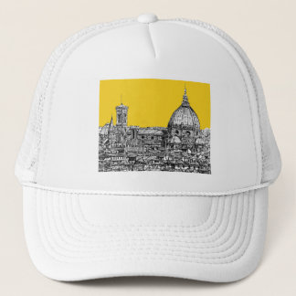 Duomo Florence in orange Trucker Hat