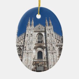 Duomo Milano Gothic Cathedral Church Milan Italy Ceramic Ornament