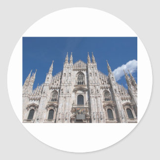 Duomo Milano Gothic Cathedral Church Milan Italy Classic Round Sticker