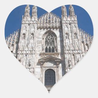 Duomo Milano Gothic Cathedral Church Milan Italy Heart Sticker