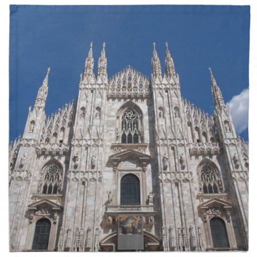 Duomo Milano Gothic Cathedral Church Milan Italy Cloth Napkin